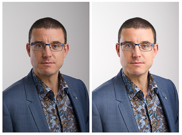 Corporate Staff Headshot Portraits – Retouching Example