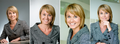 Relaxed Corporate Portrait lighting examples
