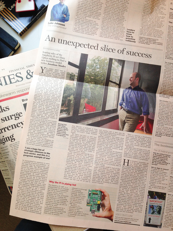 Photographing Rasberry Pi for the FT – Portrait of Eben Upton