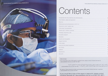 Royal Brompton Annual Report Photography – Healthcare Photography London